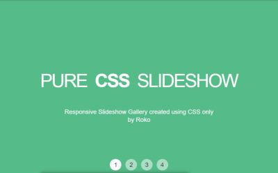 Pure CSS Gallery Slideshow Example with Code
