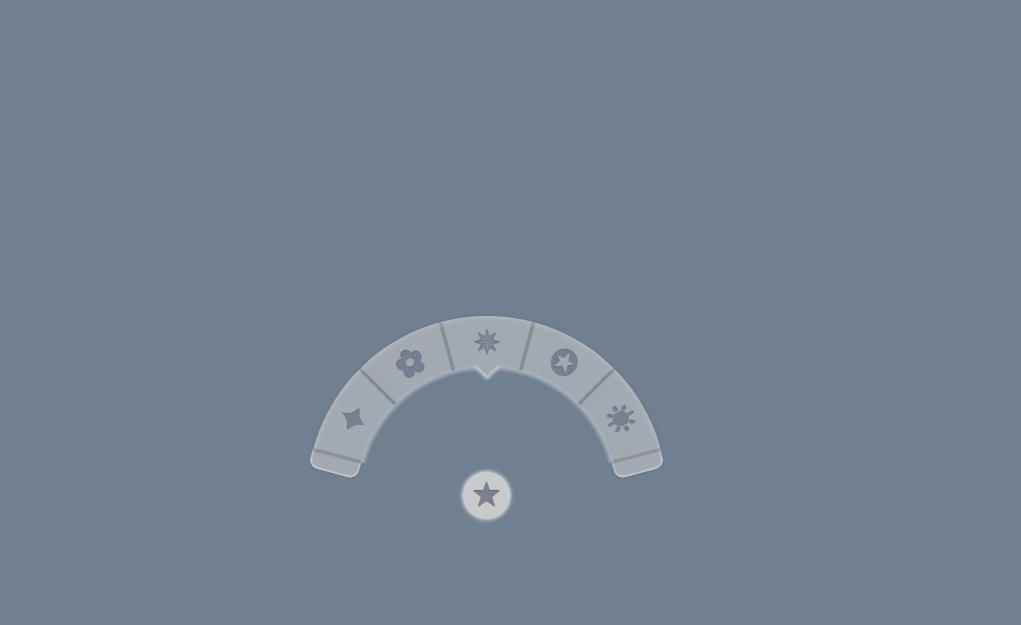 Pure CSS Half Circle Menu with Icons
