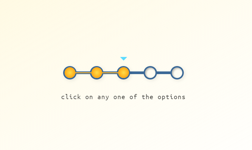 Pure CSS Interactive Progress Bar Example