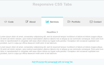 Pure CSS Responsive Tabs with Icon