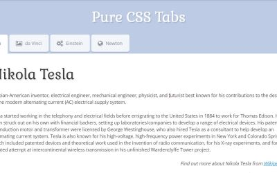 Pure CSS3 Animated Tabs Style with Icon