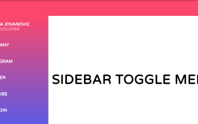 Pure HTML CSS Sidebar Toggle Menu Design
