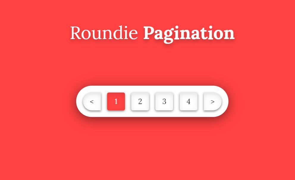 Roundie HTML CSS Only Pagination Example