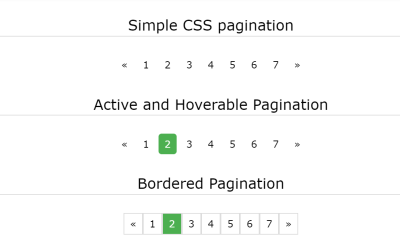 Simple Bordered, Active and Hoverable CSS Paging