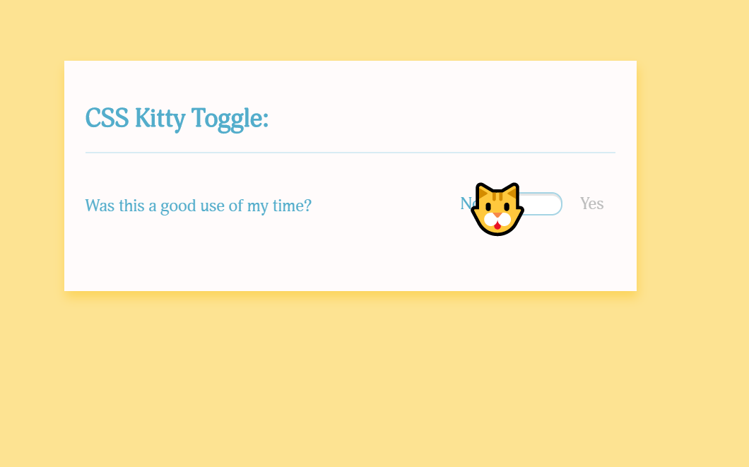 Simple CSS Checkbox Kitty Toggle Example