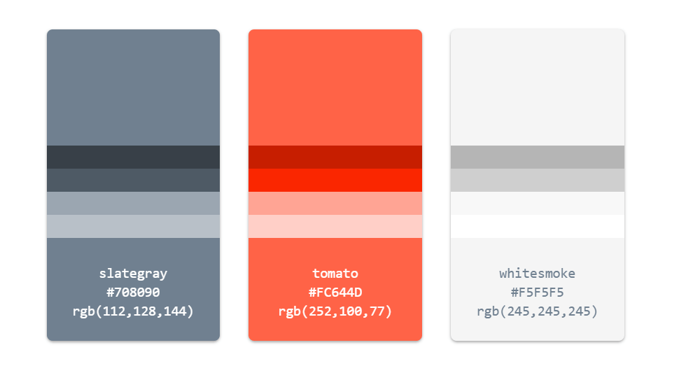 Simple CSS Color Palette with Hover Effect
