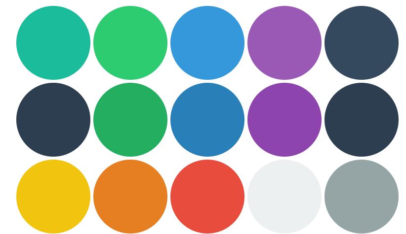 Simple HTML CSS Color Palette Metro