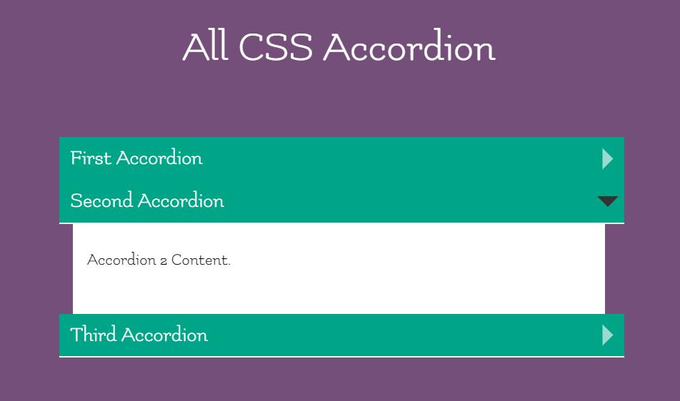 Vertical Accordion Built Using CSS Target Selector