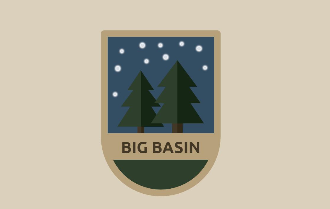 Animated Pure CSS3 Big Basin Badge