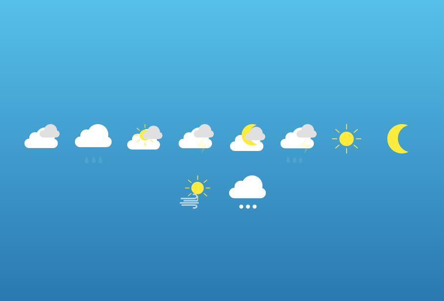 Animated Weather Icons With HTML And CSS