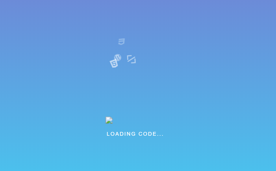 CSS Codebox Loading with Icons And Text