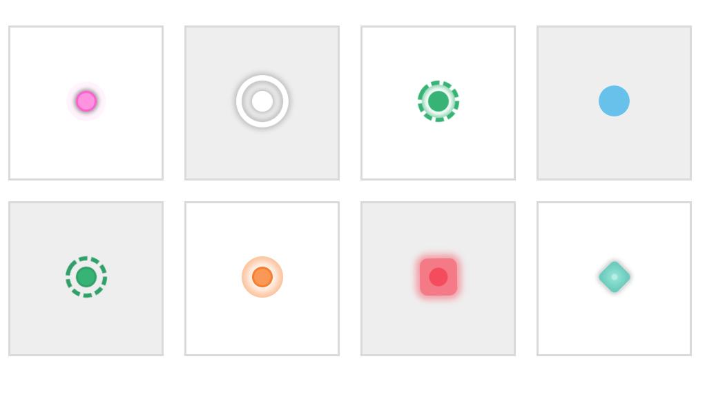CSS Hotspots Buttons Animation Experiments