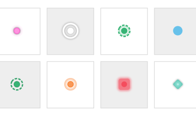 CSS Hotspots Buttons Animation Experiments
