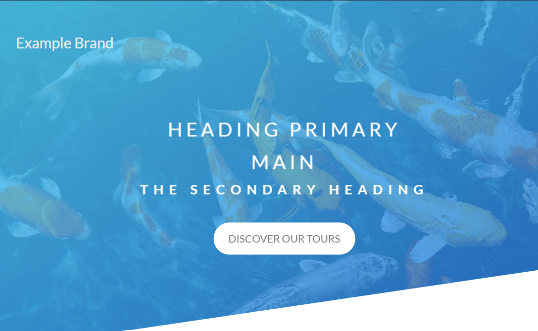 CSS Landing Page Full Screen Header