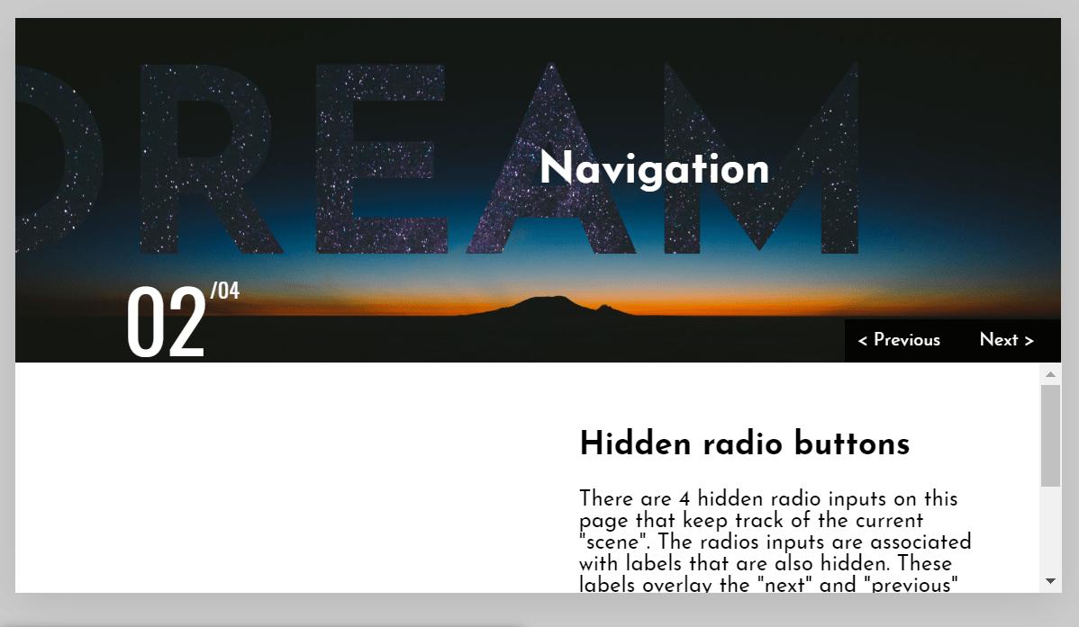 CSS Masked Text Navigation Slider Code Snippet