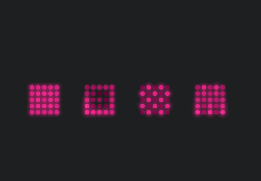 CSS Neon Grid Loading Indicator Using Flexbox