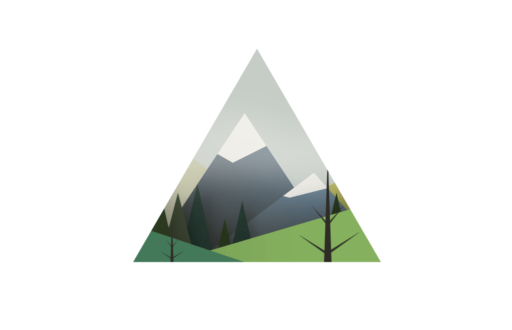 CSS Only Landscape in Web Triangle