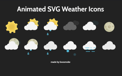 CSS SVG Weather Forecast Icons Example