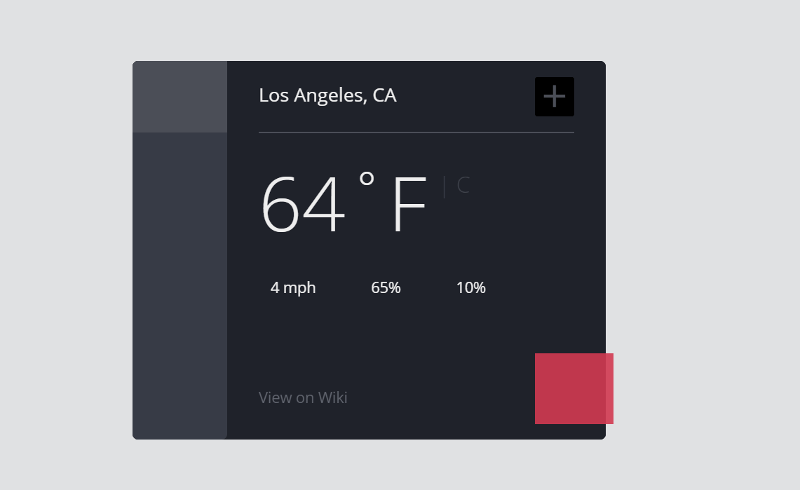 CSS Weather Forecast Widget For Website
