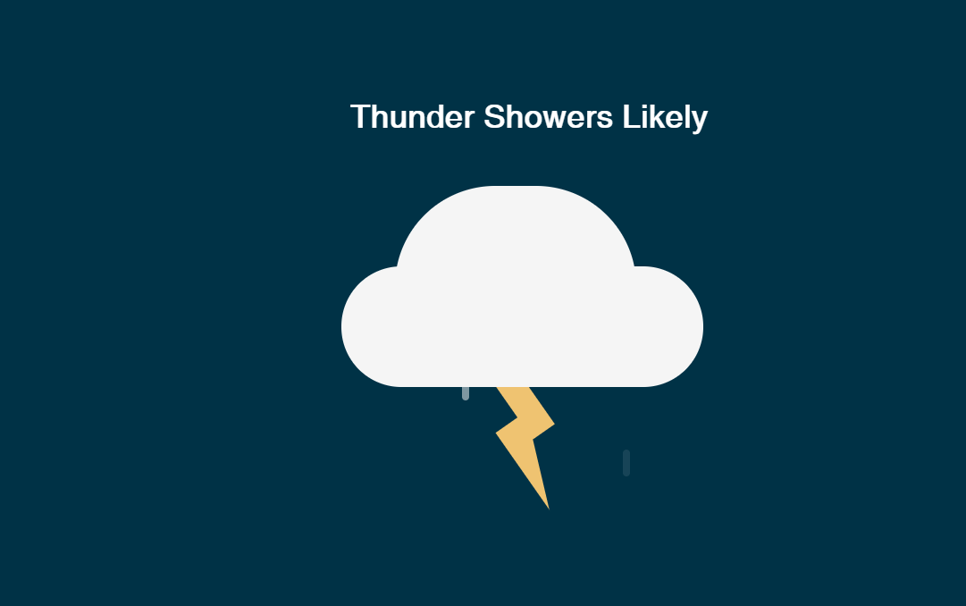 CSS Weather Thunder Showers Likely Icon