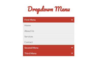 CSS3 Accordion Dropdown Menu Example