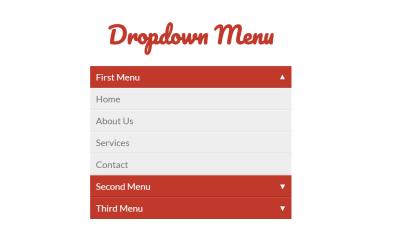 CSS3 Accordion Dropdown Menu Example
