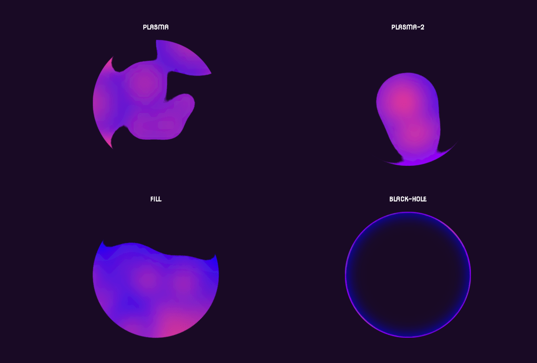 Different Style Gooey SVG Loaders with CSS Effect