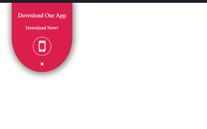 HTML CSS Download App Badge Design