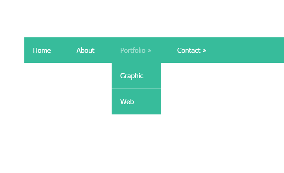 HTML CSS Dropdown Menu Concept Code Snippet