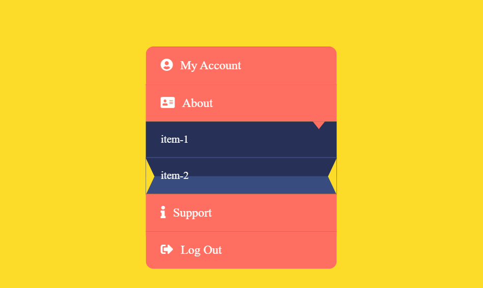 HTML CSS Only Awesome Accordion Menu