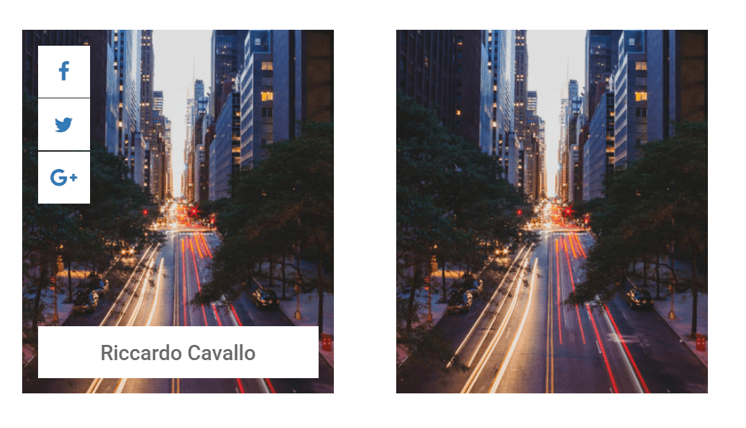 HTML CSS Thumbnail Hover Animation Effect