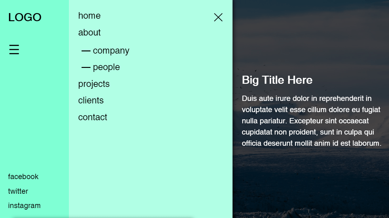 Off-Canvas Menu With CSS And JavaScript