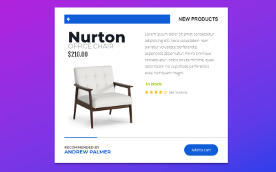 Online Shopping Site Modern CSS Product Card