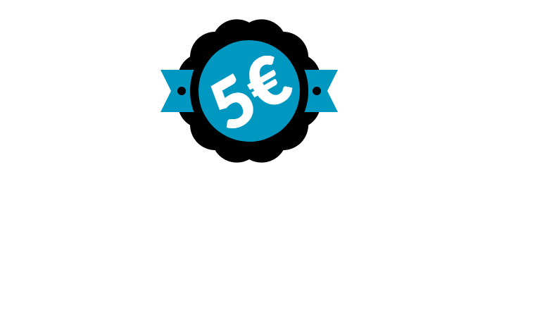 Pure CSS Geek Badge Logo Typography Example
