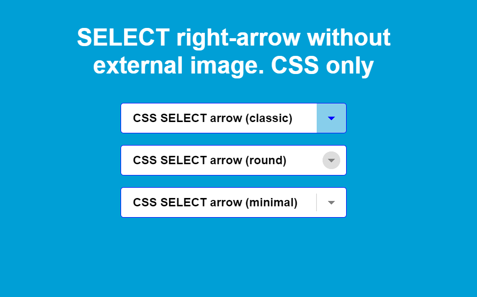 Select Right Arrow With HTML And CSS