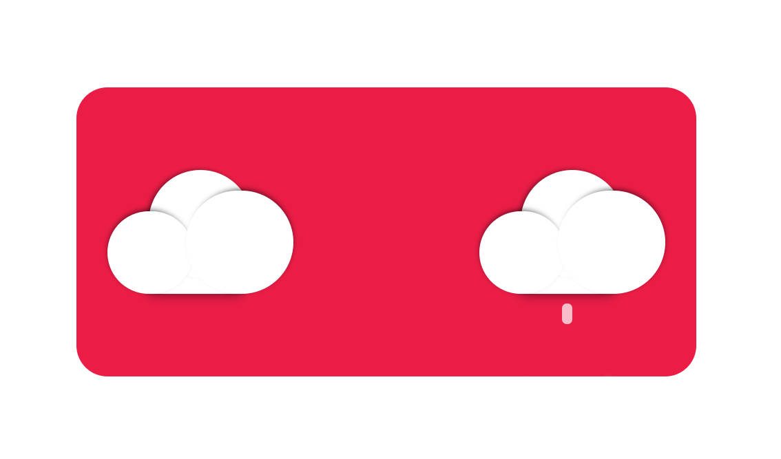 Simple Weather Cloud Icons CSS Design