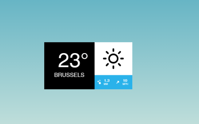 Simple Weather CSS Widget Code Snippet