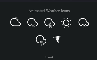 Weather Icons Animation CSS Examples