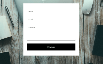 Clean Responsive CSS Flat Design Contact Form