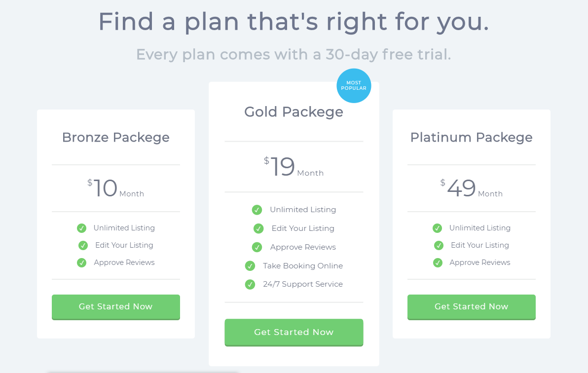 CSS Adaptive Pricing Table With Hover Animation