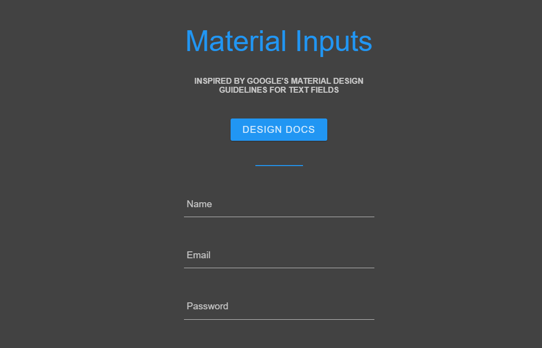 CSS Only Material Inputs Textarea Snippet