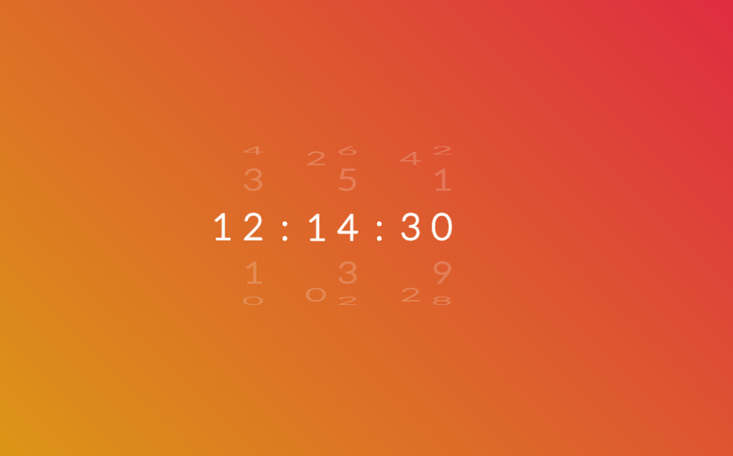 CSS Only Rotate Clock Design Example
