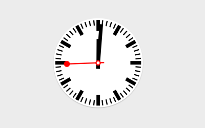 CSS Only Website Clock Code Snippet