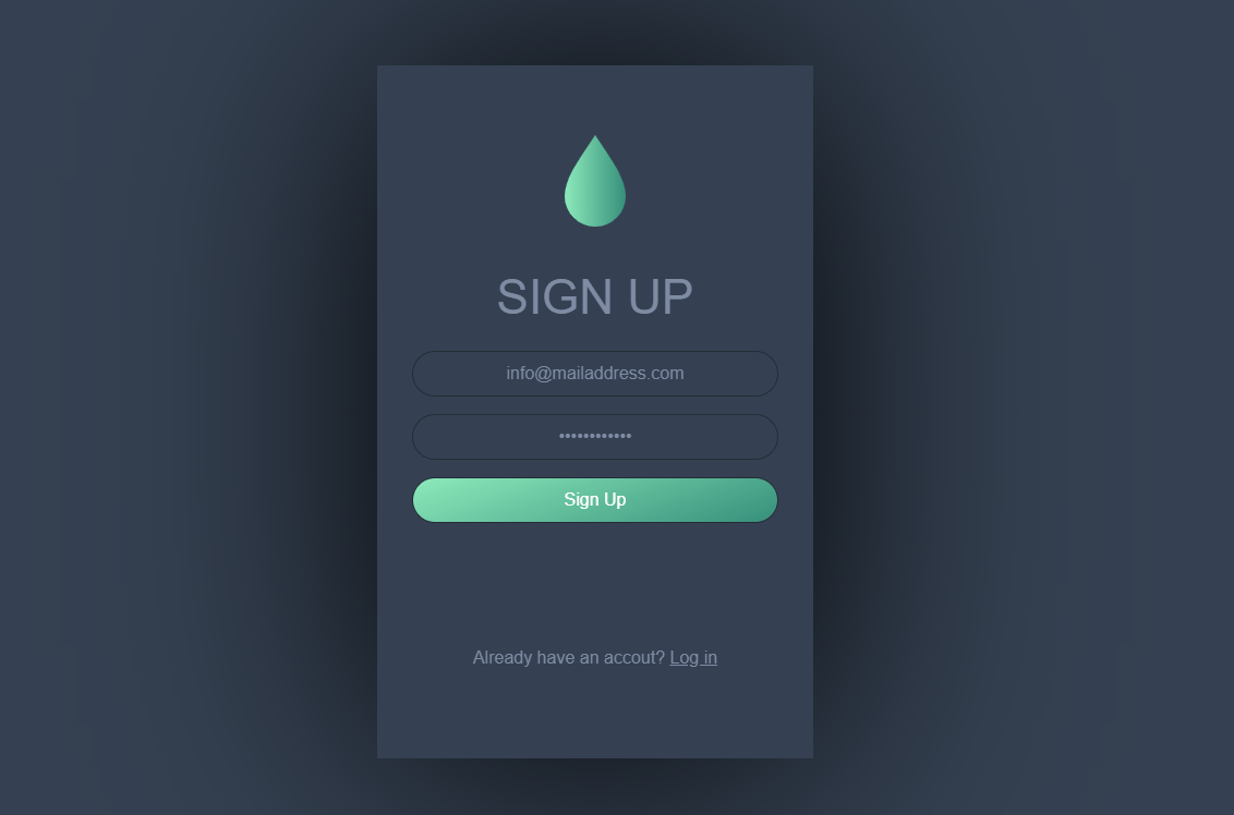 CSS Sign Up Form Clean Design Code Snippet