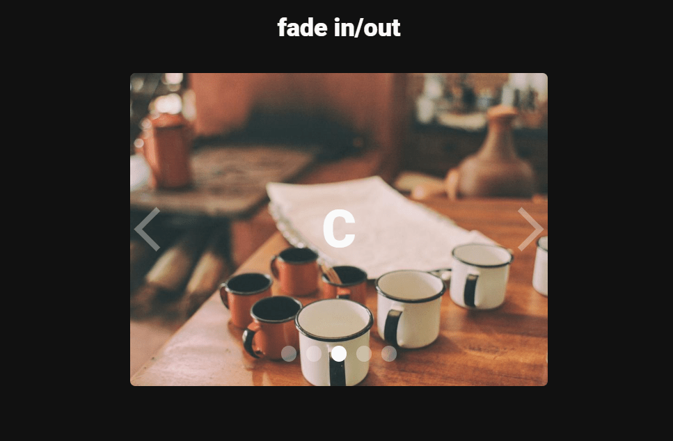 Fade In Out CSS Horizontal Carousels Snippet