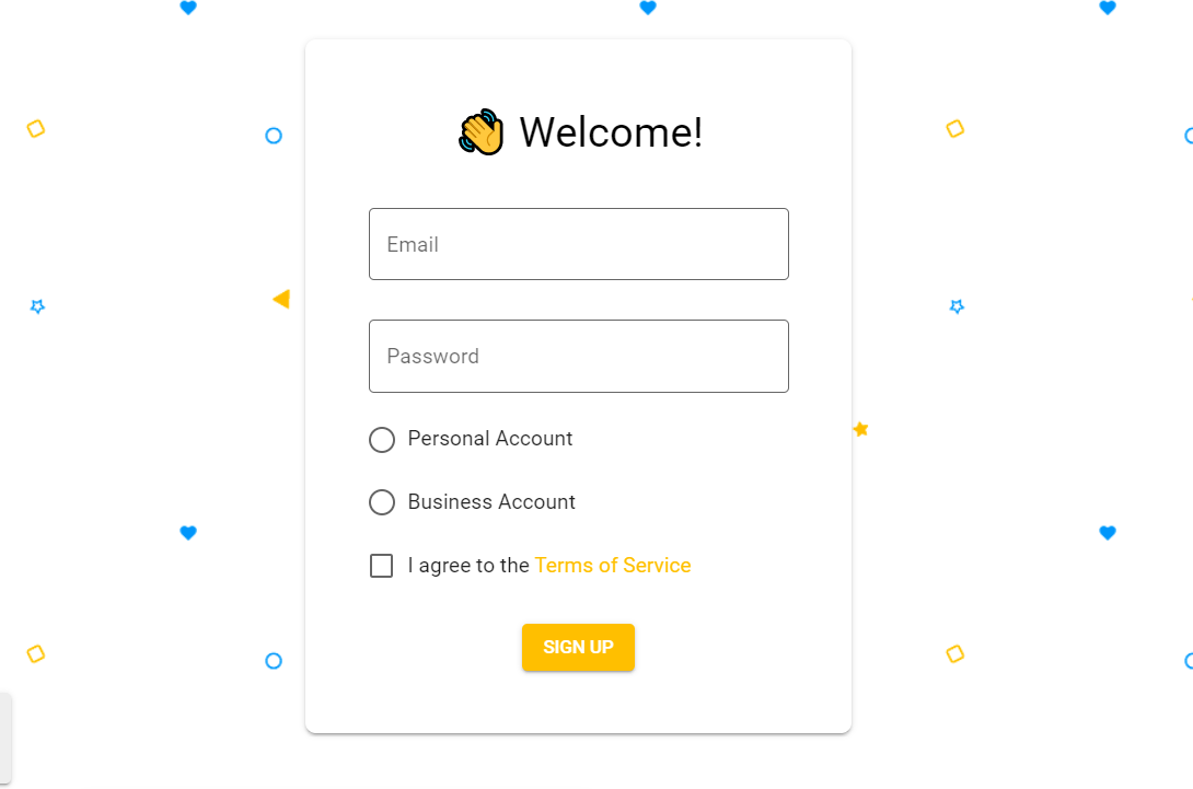 Pure CSS Material Registration Form Template