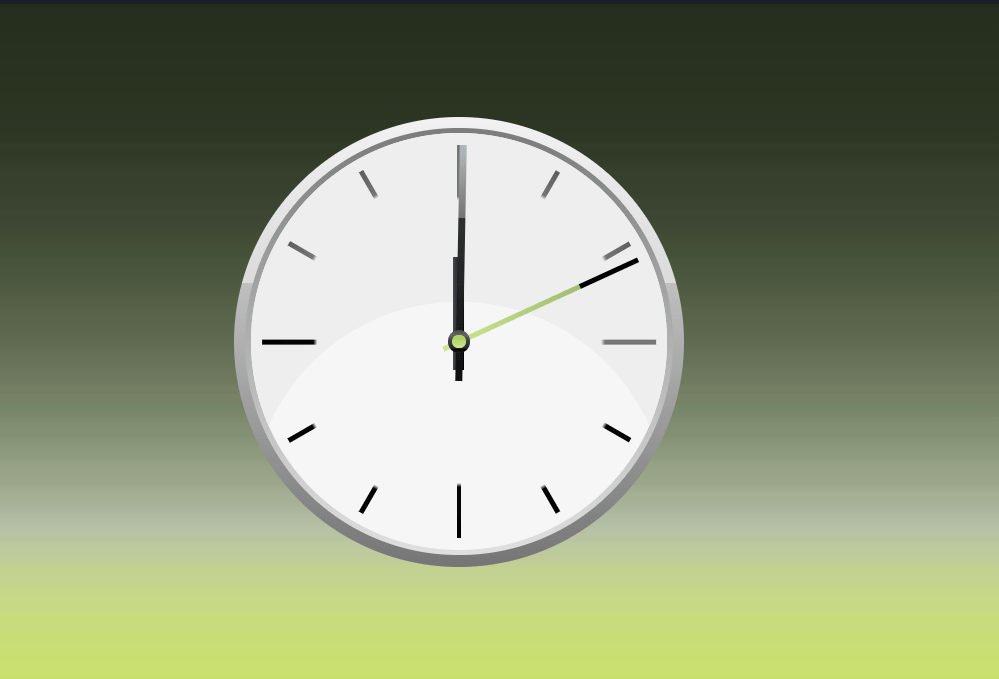 Pure CSS3 Online Clock Design Snippet