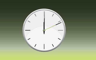 Pure CSS3 Online Clock Design Snippet