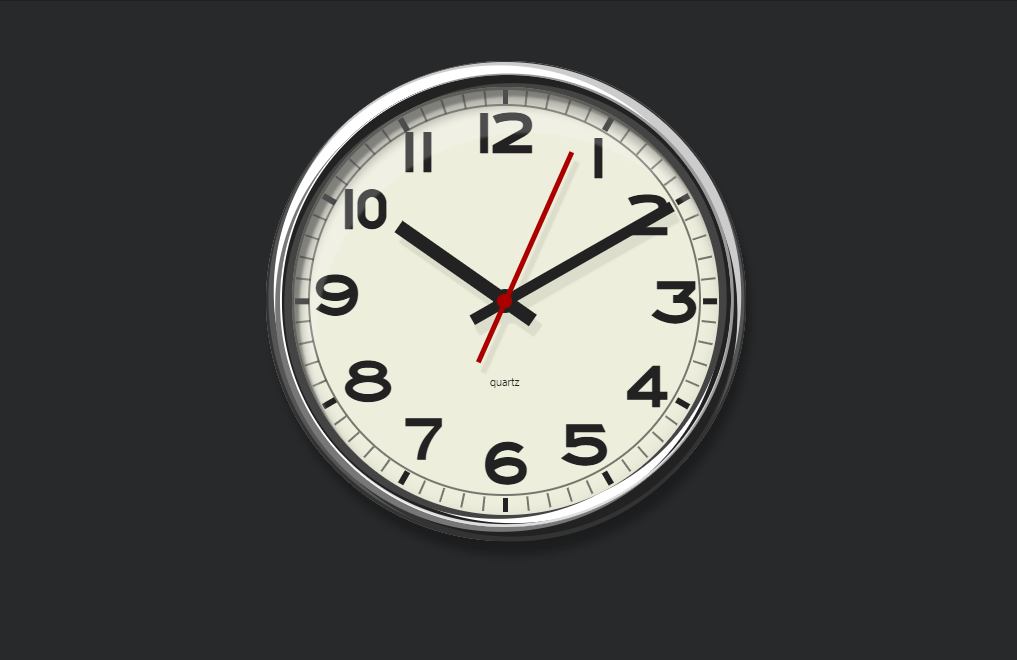 Pure CSS3 Wall Clock Design Code Snippet