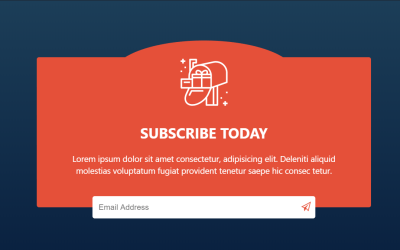 Simple Responsive CSS Subscribe Form Code